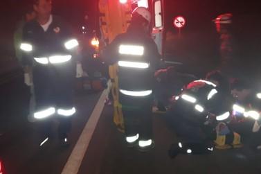 Sete pessoas ficam feridas em acidente na BR-146