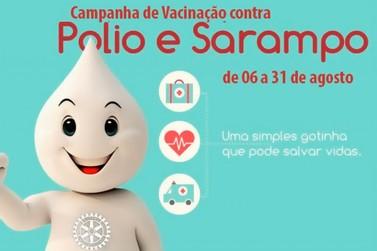 Começa campanha de vacinação contra sarampo e pólio em Andradas