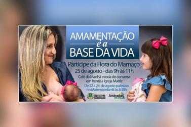 Prefeitura de Andradas divulga programação especial para o mês da amamentação