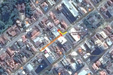 Trecho da Rua Major Bonifácio estará impedido no domingo