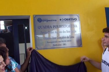 Colégio Junqueira inaugura quadra poliesportiva e homenageia alunos