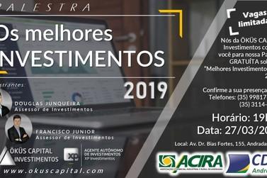 Andradas recebe palestra sobre Melhores Investimentos para 2019
