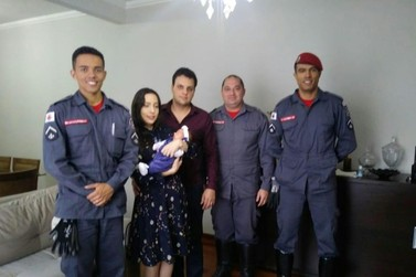 Bebê engasgado é salvo pelo Corpo de Bombeiros em Poços de Caldas