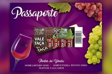 Começa a venda dos Passaportes para a 54ª edição da Festa do Vinho  de Andradas