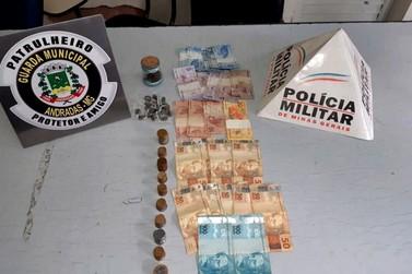 Polícia Militar e Guarda Municipal prendem duas pessoas por tráfico em Andradas