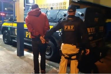 Traficante é preso pela Polícia Rodoviária Federal na BR-146