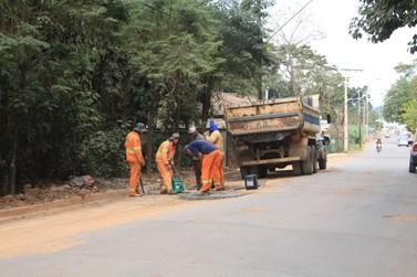 Administração municipal retoma obras em diferentes pontos de Andradas