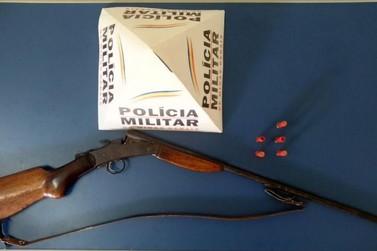 Polícia Militar apreende arma e munições na zona rural de Andradas