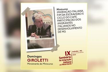 Domingos Giroletti encerra minicurso do IX Seminário da Imigração Italiana