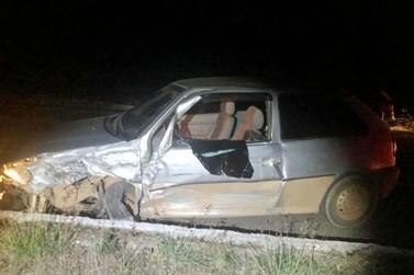 Motorista embriagado causa acidente na BR-146