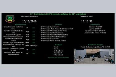 Câmara Municipal de Andradas implanta painel eletrônico de votação