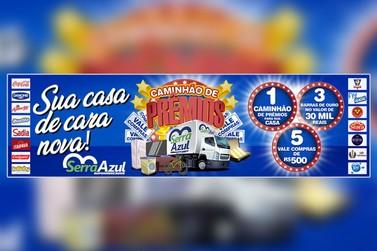 """Tem início a promoção """"Caminhão de Prêmios"""" do Serra Azul Supermercados"""