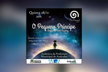 """Alunos de Centro Cultural apresentam """"O Pequeno Príncipe"""" em Andradas"""