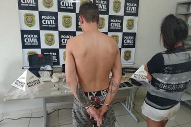 PM prende dupla com grande quantidade de drogas e armas em Andradas