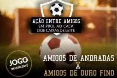 Andradas terá partida de futebol beneficente nesse domingo