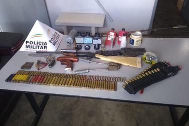Civil e Militar apreendem armas de fogo em operação em Ibitiúra de Minas