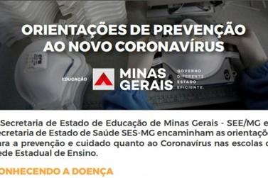 Governo de MG desenvolve material para escolas com orientações sobre coronavírus