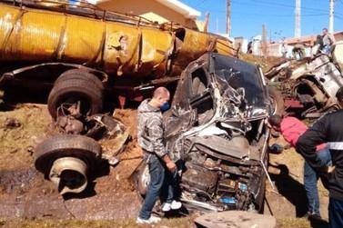 Morre caminhoneiro envolvido em acidente no Marco Divisório