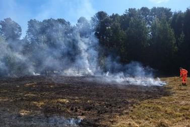 Incêndio atinge o aeroporto de Poços de Caldas