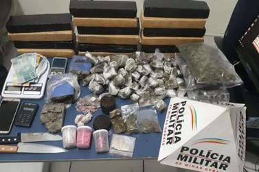 Polícia Militar apreende grande quantidade de drogas em Poços de Caldas