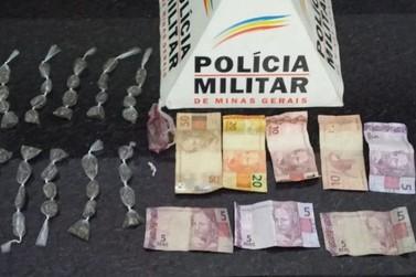 Polícia Militar apreende menor e prende homem por tráfico em Andradas