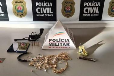 Polícia prende suspeitos de assaltar joalheria em Andradas