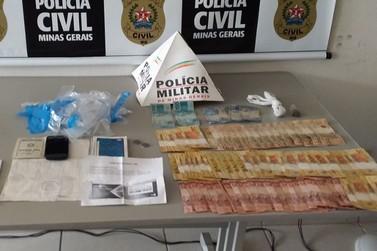 Operação das polícias Civil e Militar apreende drogas e dinheiro em Andradas