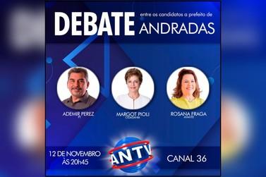 Candidatos a prefeito de Andradas participam de debate na ANTV nesta quinta