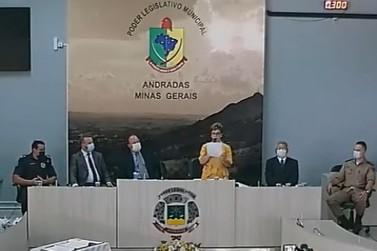 Margot Pioli toma posse como prefeita de Andradas para gestão 2021/2024