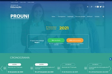 MEC divulga selecionados na primeira chamada do Prouni 2021