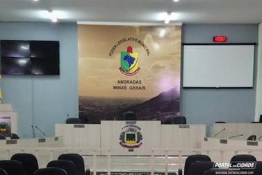 Câmara de Andradas tem a 3ª Sessão Extraordinária do ano nessa terça-feira