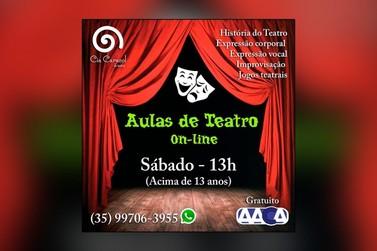 Cia Caracol e Associação Amigos da Cultura oferecem aulas de teatro on-line