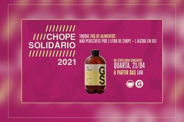 'Chope Solidário' vai trocar chope por alimentos nesta quarta-feira em Poços