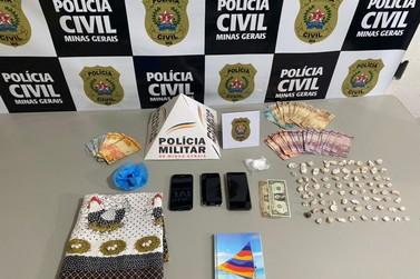 Polícia prende cinco pessoas durante operação contra o tráfico em Andradas