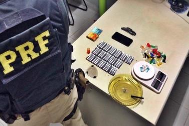 Caminhoneiro que dirigia sob efeito de cocaína e é preso na BR-146