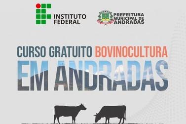 Prefeitura e IF Sul de Minas promovem curso de bovinocultura leiteira