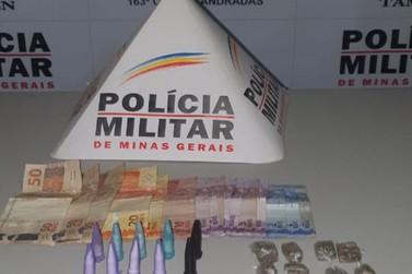 Cinco pessoas são apreendidas pela PM por tráfico de drogas em Andradas