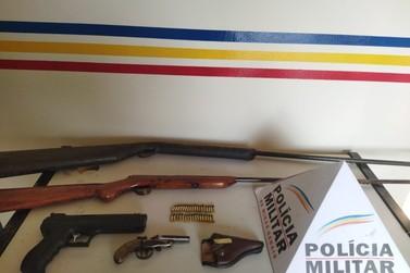 Polícia apreende armas e munições durante operação realizada em Caldas