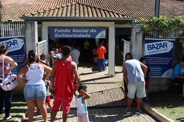 Bazar do Fundo Social de Atibaia beneficia mais de 120 famílias