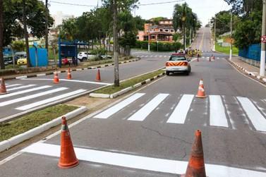 Ruas e avenidas de Atibaia têm sinalização revitalizada