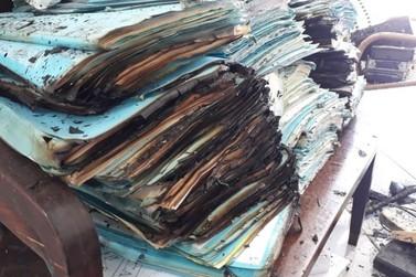 Delegacia de Nazaré é alvo de criminosos; inquéritos são queimados