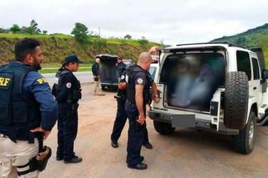 PRF com apoio da GCM prende quadrilha de roubo de cargas na Fernão Dias
