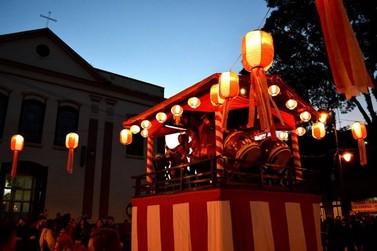 """A tradicional festa """"Bon Odori"""" acontece no mês de junho em Atibaia"""