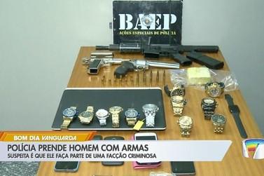 Suspeito de integrar facção criminosa é preso com armas em Atibaia