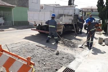 Zeladoria Municipal executa reparos em bocas de lobo em Atibaia