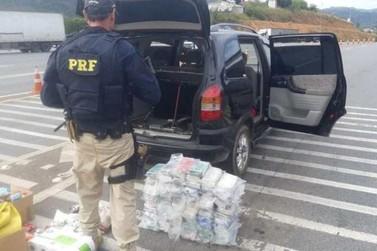 Motorista é preso com 72 tijolos de crack em fundo falso de carro na Fernão Dias