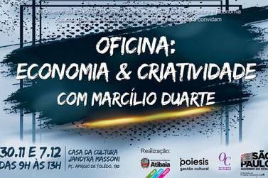 """""""Oficina Economia & Criatividade"""" tem inscrições abertas em Atibaia"""