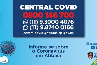 Prefeitura de Atibaia tem Central de Informações sobre o Coronavírus