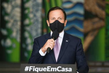 Doria anuncia multa de R$ 5 mil para empresas e R$ 500 para pessoas sem máscaras
