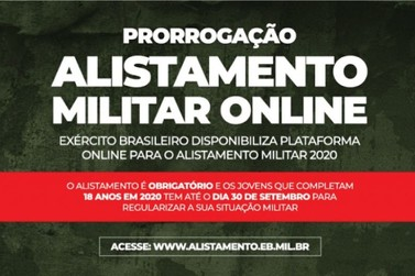 Alistamento Militar tem prazo prorrogado até final de setembro